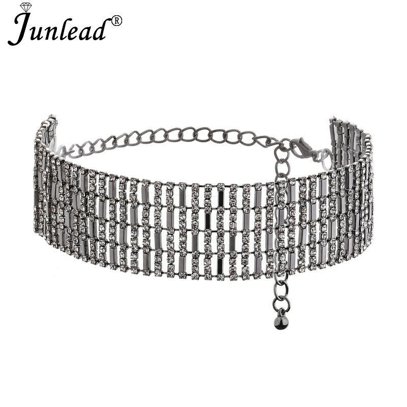 d154155cba4d 2019 Junlead Luxury Crystal Vintage Choker Necklace Collier Bib Maxi Collar  Bijoux Chunky Neck Chocker Women Party Jewelry C19041201 From Tong06