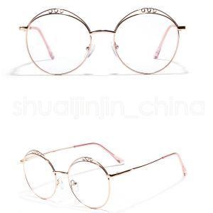 141ed4695a Women Round Flat Mirror Retro Circular Eyeglasses Frames For Women Men  Hollow Metal Glasses Frame Men Metal Outdoor Eyewear LJJR331 Prescription  Glasses ...