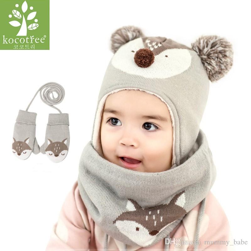 Acquista Kocotree 2 Pz   Lotto Bambino Inverno Cappello Sciarpa Bambino  Inverno Cap Bambini Sciarpa Calda Ragazzi Vestito Beanie Cappelli Sciarpe La  Ragazza ... 4049de89e48e