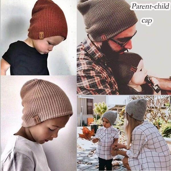 Compre 2019 Lindo Niño Niño Sombrero Bebé Sombrero Crochet Color Sólido  Papá Madre Y Yo Chico Y Chica Con Hot A  9.14 Del Whisper   de0402549c9