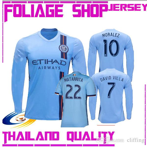 2019 2020 NEW YORK CITY FC LONG SLEEVE soccer jersey home blue nycfc 19 20 MITRITA 28 ring 8 MATARRITA MEDINA 19 MORALEZ 10 football shirts