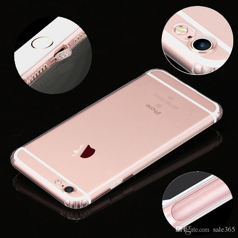 new product 4bb98 6de18 Camera Protective Cases DustProof Plug Case For Iphone 7 8 Plus 6 6S Xs Max  XR X Clear Ultrathin Slim Soft Gel Silicone Cover
