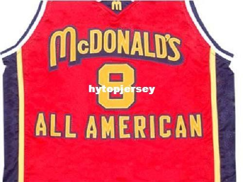 online store 5916c fd4a8 Cheap Mens KOBE BRYANT MCDONALD ALL AMERICAN JERSEY MCDONALD S RED NEW ANY  SIZE XS - 5XL Retro Basketball Jerseys NCAA College