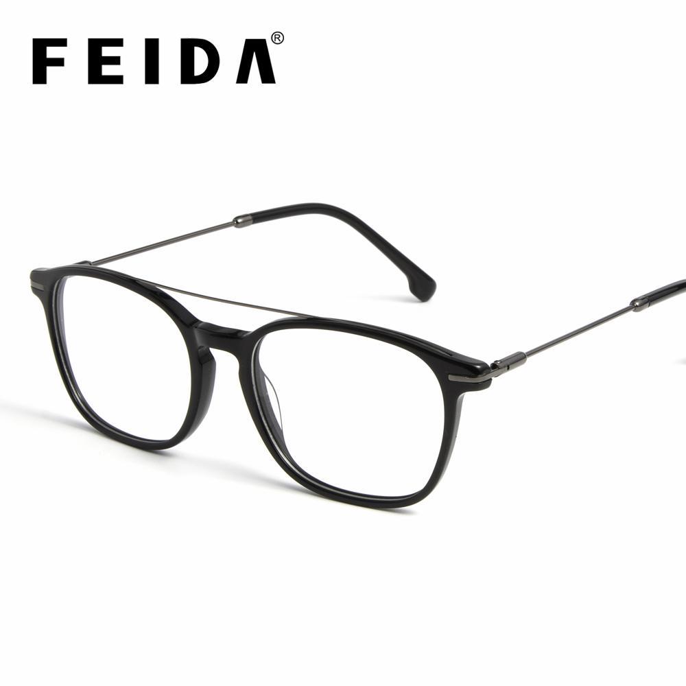 520171e789f36 Compre Acetato Quadro Das Mulheres Dos Homens Lente Clara Espetáculo Óptico  Miopia Eyewear Frames 2019 Transparente Óculos Mulheres Homens EyeGlasses  ...