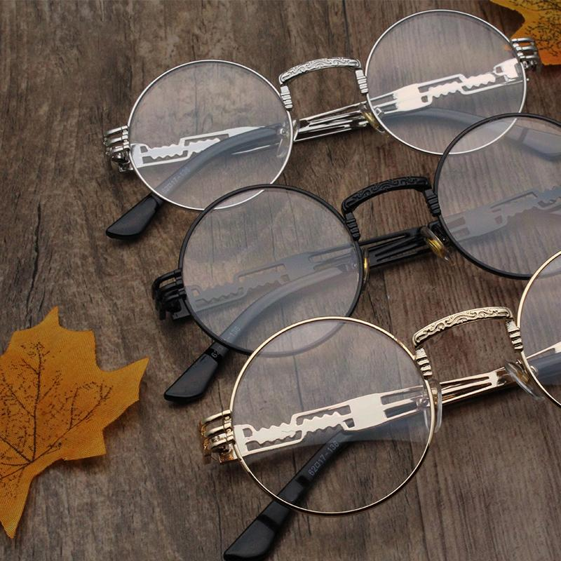 b92e0a5c33e 2019 Cubojue Vintage Round Glasses Frame Men Women Steampunk Eyeglasses  Clear Lens Non Prescription Retro Eyewear Black Punk Points From  Rivelchang