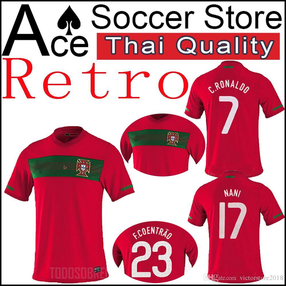 1504fa9cba6 2019 European Cup 2010 Portugals Retro Soccer Jerseys World RONALDO  QUARESMA J.MOUTINHO BERNARDO ANDRE SILVA PEPE Football ShirtS Edition From  ...
