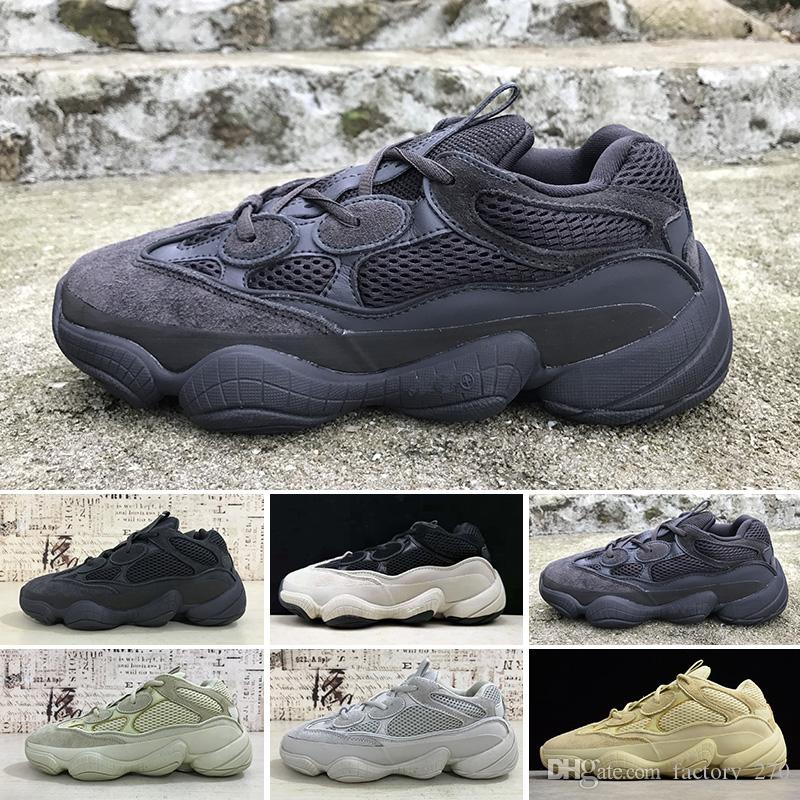 more photos c621f 364d0 2019 500 salt Blush Utility Black Desert Rat 500 Super Moon Yellow running  shoes sneaker trainer with box free shipping wholesale price