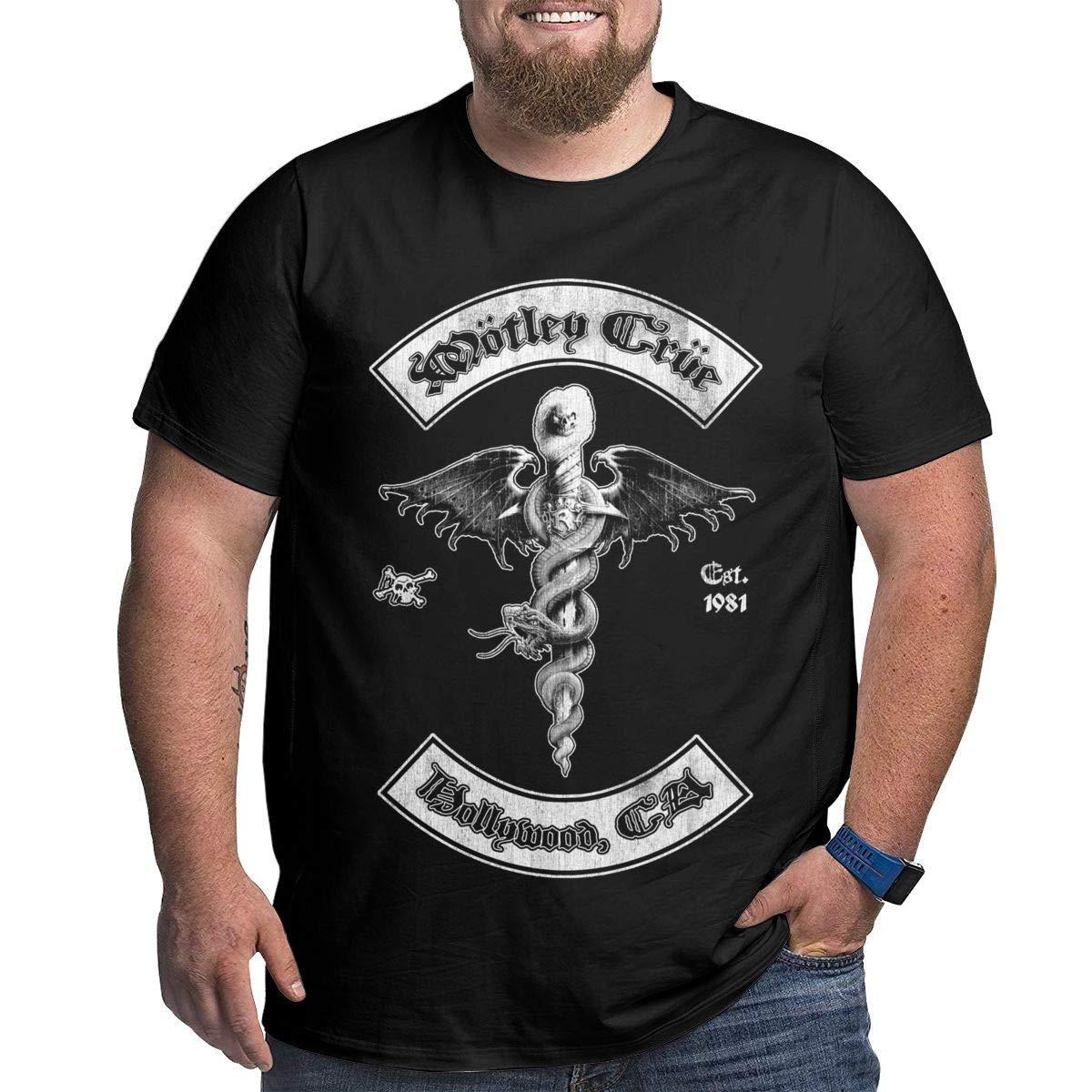 5a2d5d14b T-shirt à manches courtes pour hommes Dwight E Hoskins Motley Crue pour  hommes, taille plus grande, taille XXL à 6XL