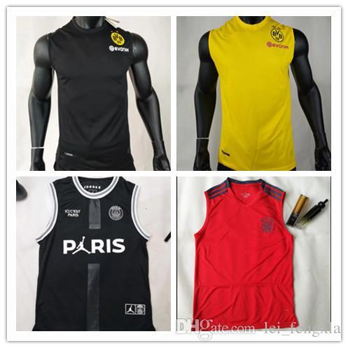 854a779498b Thailand Quality BVB Borussia Dortmund Vest Soccer Jersey 2019 20 ...