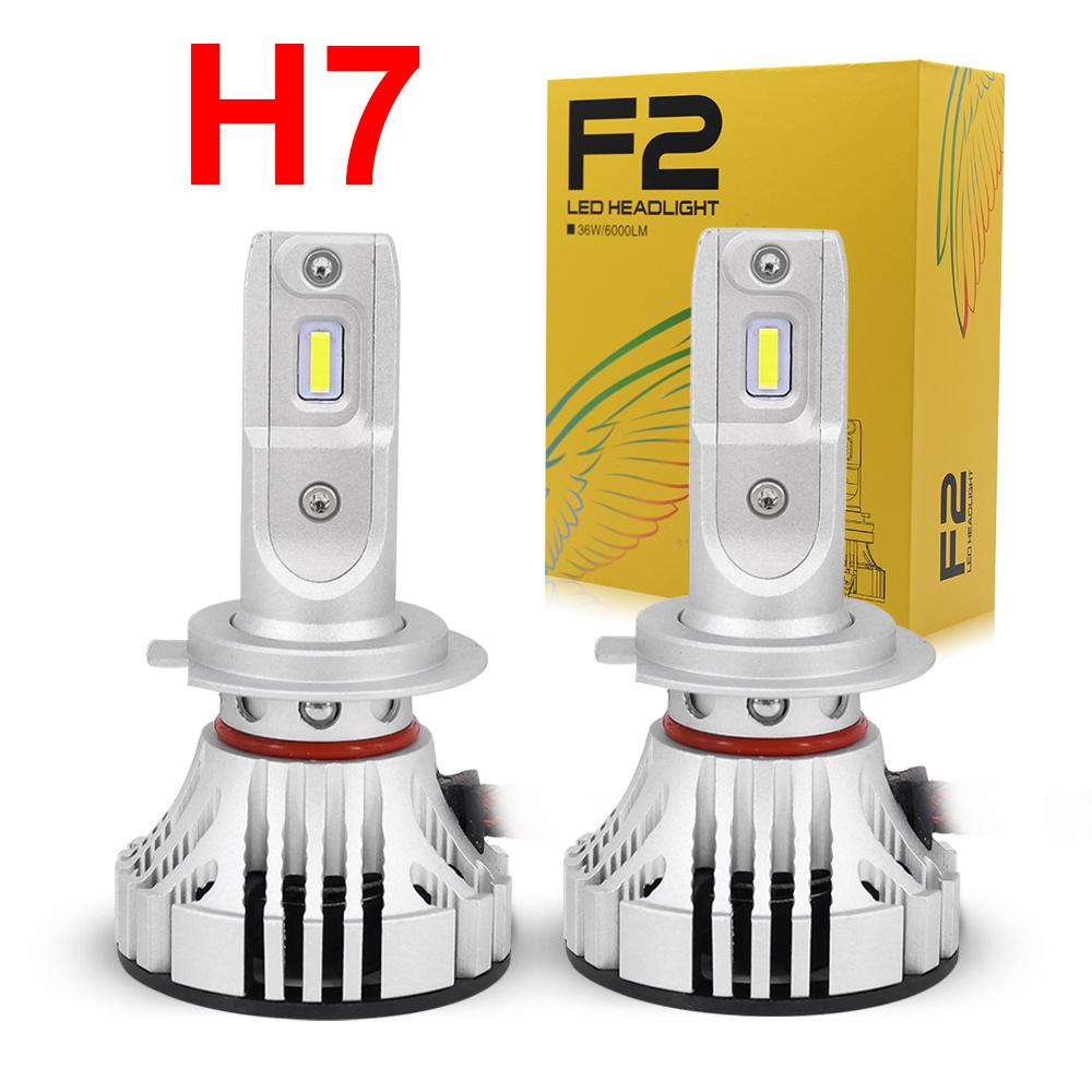 H11 F2 LED Headlight 72W 12000LM White 6K Fog DRL Bulbs
