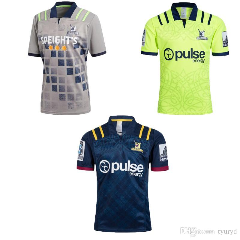 20152f2482d AAA+ 2018 Highlanders Super Rugby Home Jersey New Zealand Super Highlanders Hurricanes  Jersey League Adults Mens euro Extra large size S-3X