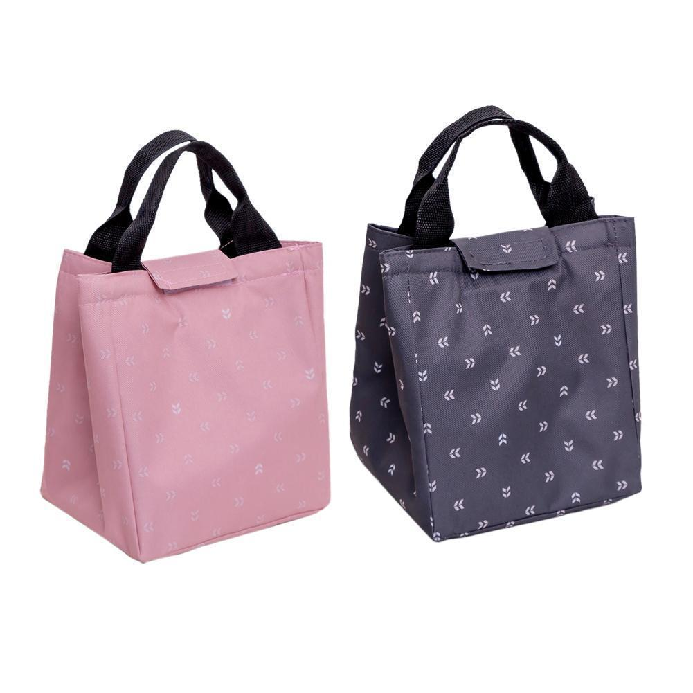 Picnic Storage Lunch Bag Insulated Thermal Bento Container Thermal Cooler Food Lunch Tote Storage Insulated Canvas Box Hand Bags