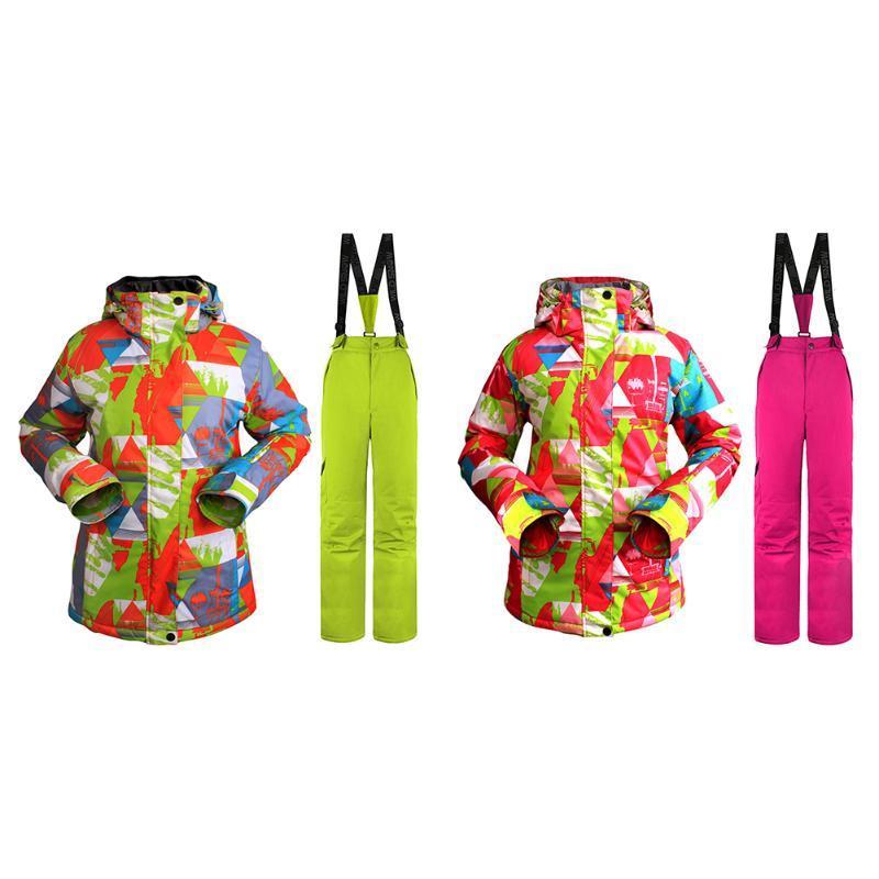 Vêtements Snowboard Chaud Étanche Coloré Suit Ensembles Pantalon Hiver Veste Ski Neige Coupe Vent Femmes De Femme QdxroCeWB