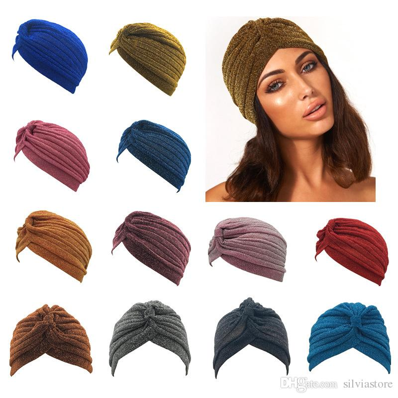 bace1bd4 Women National Beanies Hijab India Muslim Female Beautiful Wool Wrinkle Hats  Bright Color Shinny Fashion Caps Crochet Beanie Beanies For Girls From ...