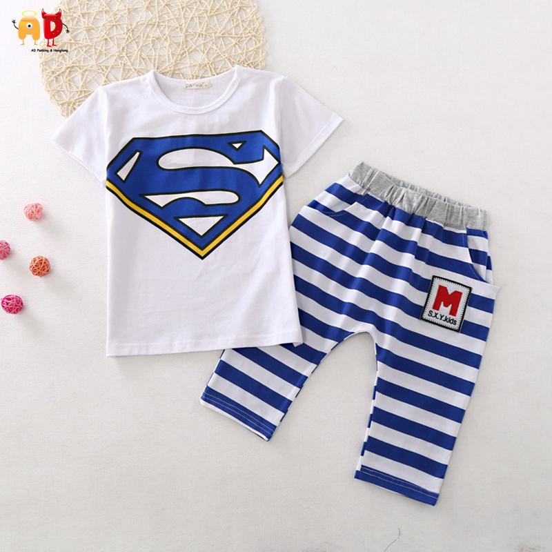 960567b79 2019 Good Quality Cute Superman Children S Sets For Summer Boys ...
