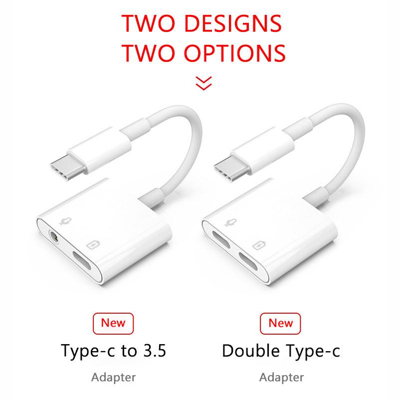 MH-CM36S P AdapterType CtoType-CAudion Type C charging ConvertorPD fast ChargeMusic Listen Copper Wire Data Transmit Connector
