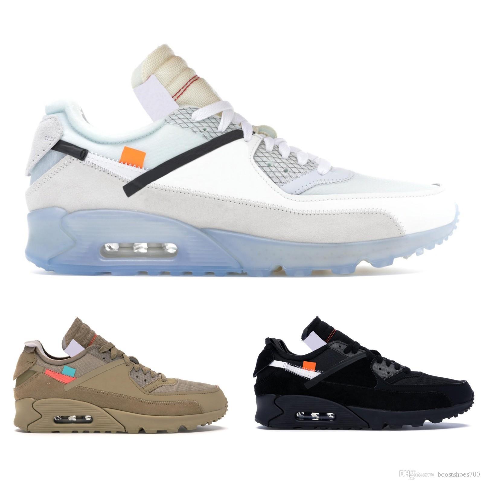 low priced 7bc7d cd8df Brand New 90 Desert Ore Mens Designer Schuhe Schwarz Weiß Laufschuhe Top  Männer Frauen 90er Jahre Sport Sneakers Größe 40-45