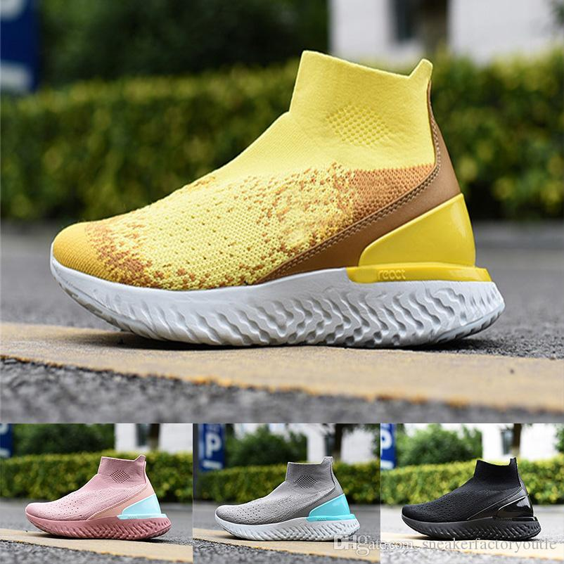 c0d17873906 2019 Epic React Athletic Sneakers Running Shoes Instant Fly Breath High cut  Comfortable Sport Mens Womens shoes Size 36-45