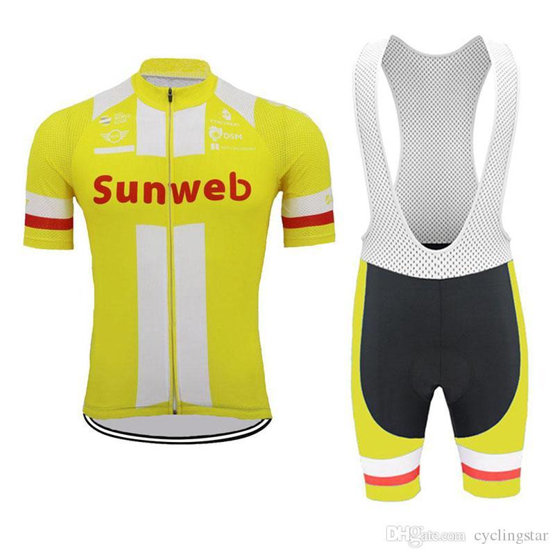 Cycling Jersey 2019 Men Sunweb New Summer Bike Team Short Sleeve ... 5ba89ad0b