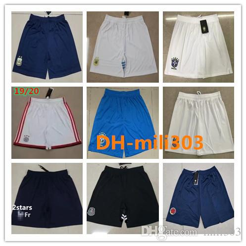 Top thai quality 2019 2020 psg soccer Shorts 19 20 Ajax marseille football shorts 19/20 Brazil Argentina Mexico national team Short Pants