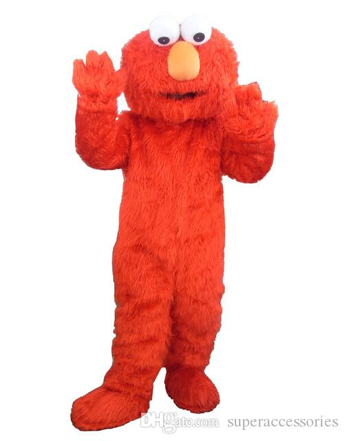 Red the original Street Mascot Costume Bizarre Dress Adult Size Free Shipping for Halloween