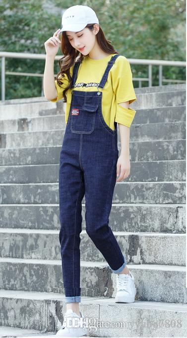 buy online 4855e 21305 Salopette di jeans da donna casual alla moda, tuta da donna di jumpsuit  nuova tuta di jeans da donna