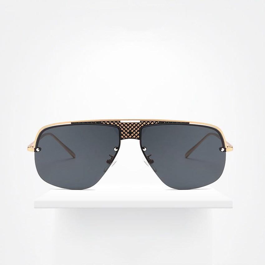 b507d5b25 Compre Duplo Feixe De Óculos De Sol Das Mulheres Grande Armação De Óculos  De Sol Para Homens Moda Quadrado De Metal Projeto Eyewares Proteção UV400  LJJS212 ...
