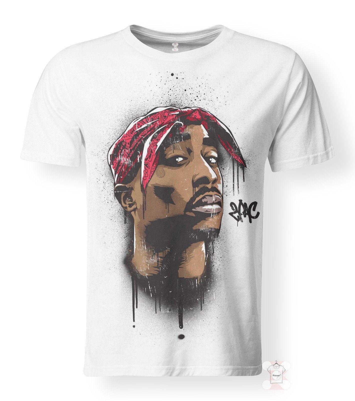 2019 rabatt verkauf größte Auswahl von 2019 große Auswahl an Designs 2Pac T-Shirt Legendary Rapper Tupac Shakur Hip Hop Icon NEW 3D Print Women  Men Men Women Unisex Fashion tshirt Free Shipping