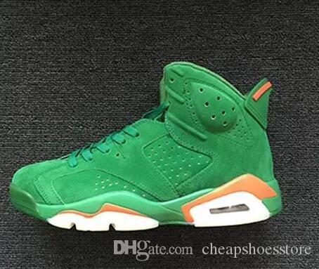 bf0bcae992d278 With Box Mens And Womens Basketball Shoes 6S Black Cat Alternate Gatorade  Green University Blue Carmine For Men Sneakers Athletics Boots Mens Shoes  Sneakers ...