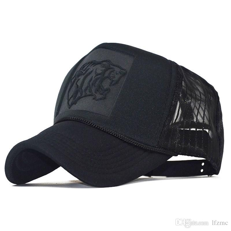 Fast-selling net cap explosive foreign trade Europe and the United States popular three-dimensional embossed tiger head net cap S net cap Lu