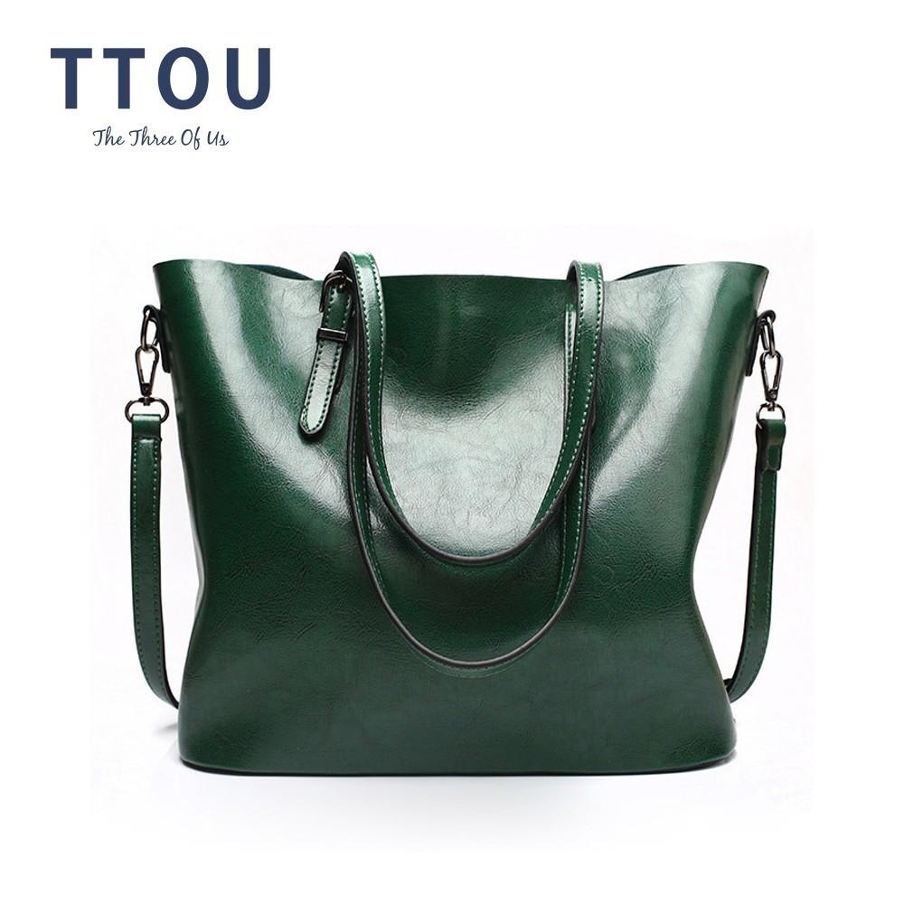 2019 Fashion TTOU Women Fashion Shoulder Bags Female Solid Handbags Large  Capacity Tote Bag Casual Pu Leather Shopping Bag Handbags Wholesale Purses  For ... e1308f01420a9