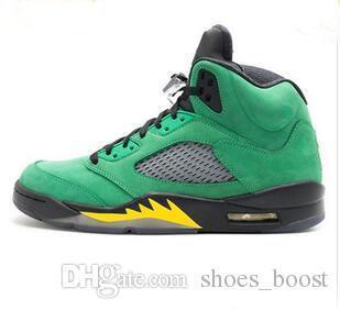 check out d2675 f95c2 Men 5 Oregon Ducks Mens Basketball Shoes For Sale Green Black Yellow 5s  Sneaker