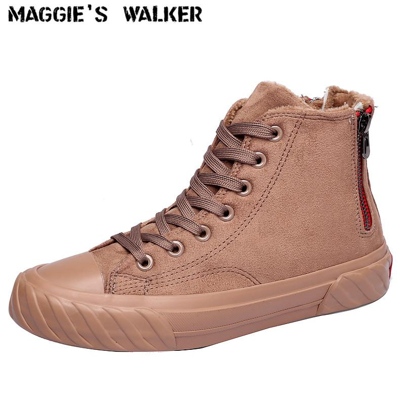 6b86a307a399 Maggie S Walker Fashion Winter Short Boots Casual Shoes Snow Boots Preppy  Style Women S Flock Ankle With Zipper Size 35~40 Army Boots Peep Toe Booties  From ...