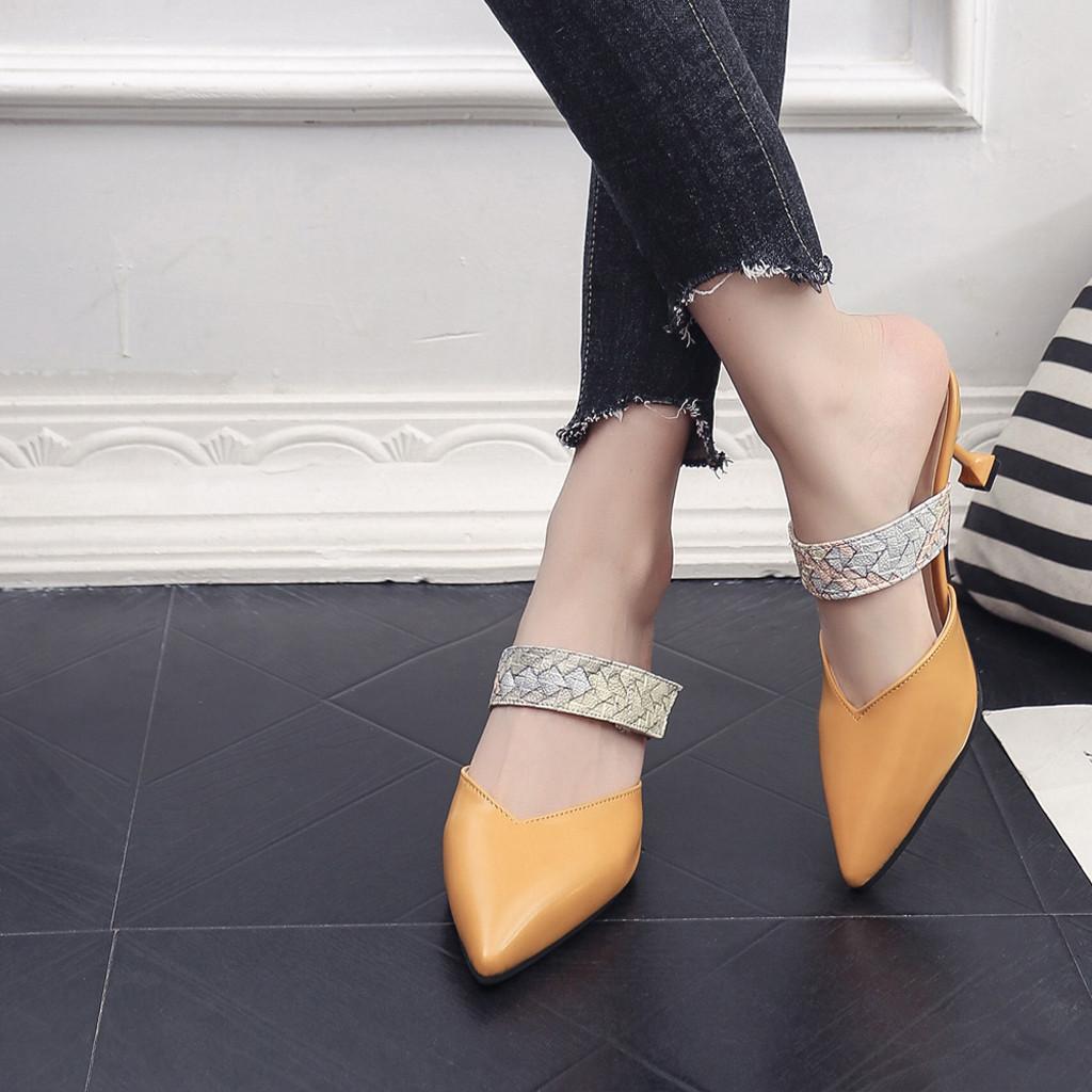 cc8a106b9 Compre Zapatos De Vestir De Diseño Sagace Moda Para Mujer Nuevas Sandalias  De Serpiente Puntiaguda Solo Casual Stiletto Zapatillas Mujer Mujer Dec7 A   25.17 ...