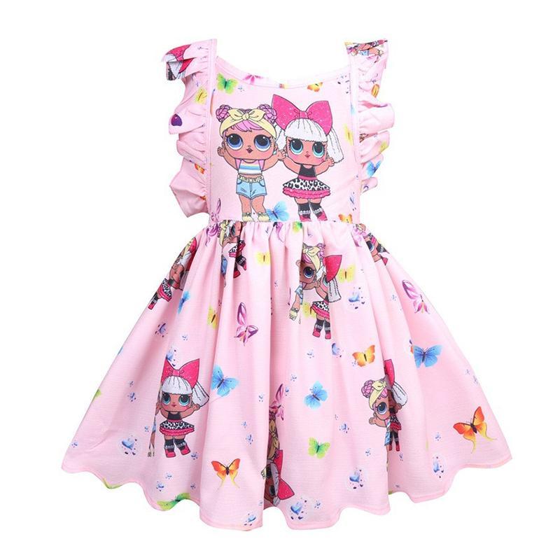 d78807dcd51dd Acheter Surprise Filles Robes Bébé Fille Designer Vêtements Enfants  Boutique Princesse Robe D été Dos Nu Arc Robe De Bal Enfants Vêtements  Nouveau C3154 De ...