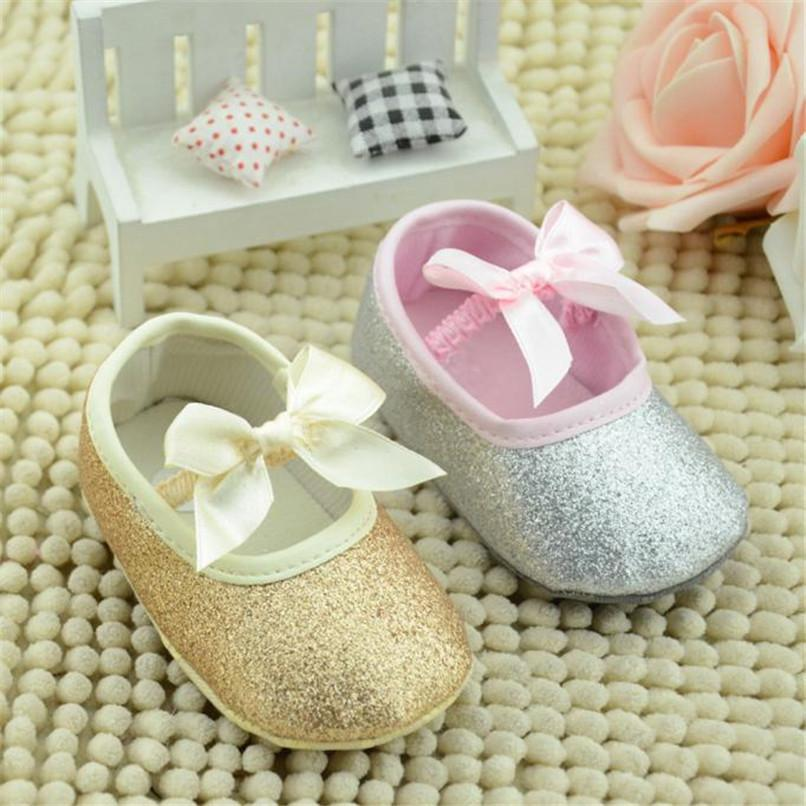 febc64118d Baby Shoes Glitter Sneaker Toddler Butterfly-knot Anti-slip Soft Sole Shoes  NDA84L17