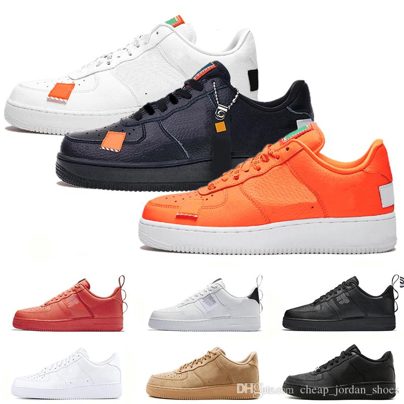 Nuevo nike air force 1 af1 Utility Classic Black White red Dunk Men Women Casual Shoes one Sports Skateboard High Low Cut Wheat Entrenadores
