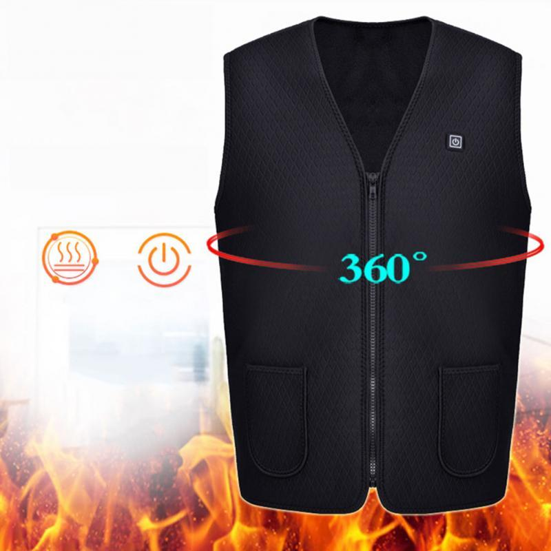 Usb Heater Men Women Electric Heated Vest Heating Waistcoat Thermal Warm Clothing Feather Hot Sale Winter Heated Jacket