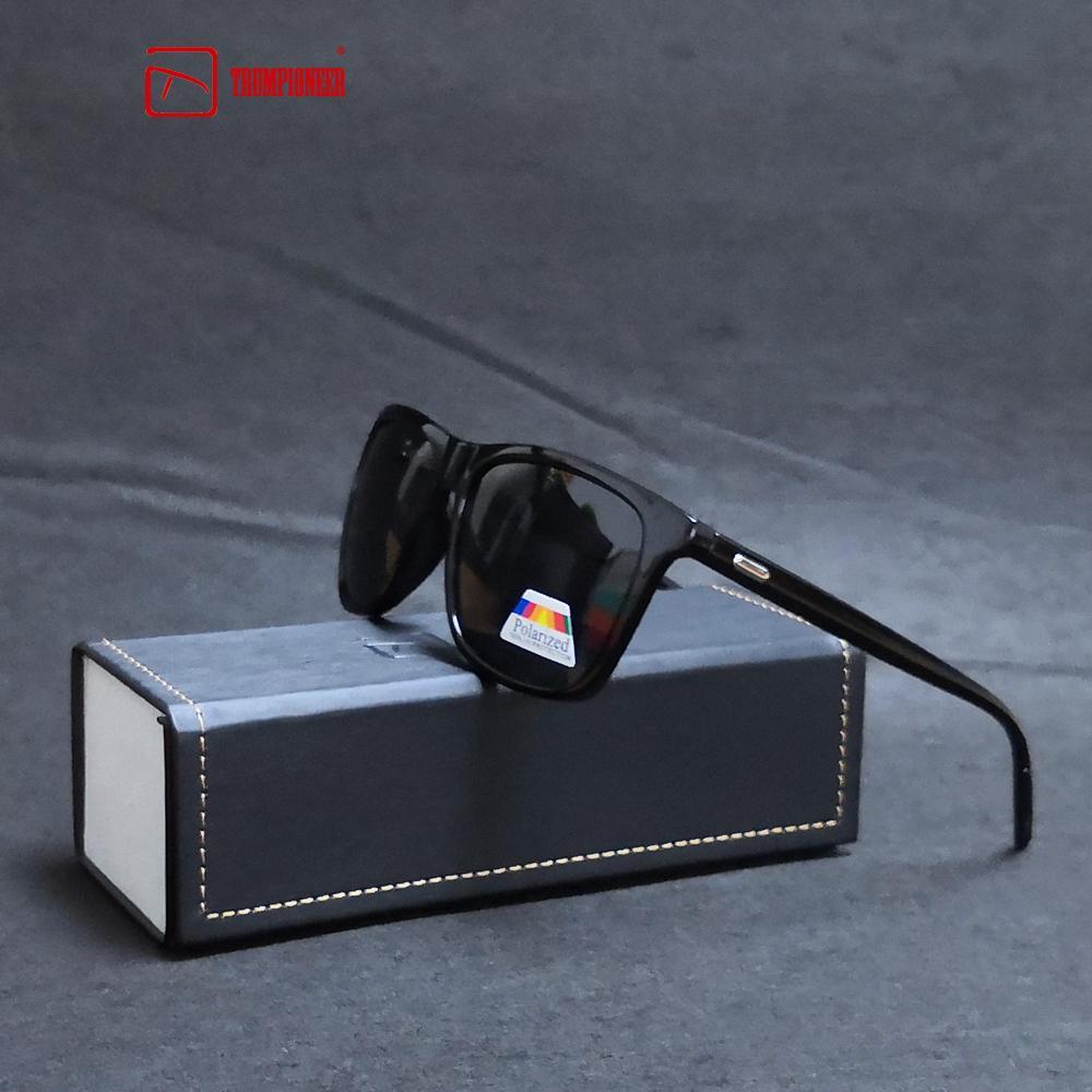 top design vero affare taglia 7 TRUMPIONEER Moda Guy Occhiali da sole da donna Polarized Occhiali da sole  Uomo Classic Design All-Fit Occhiali da sole specchio con marca Box CE
