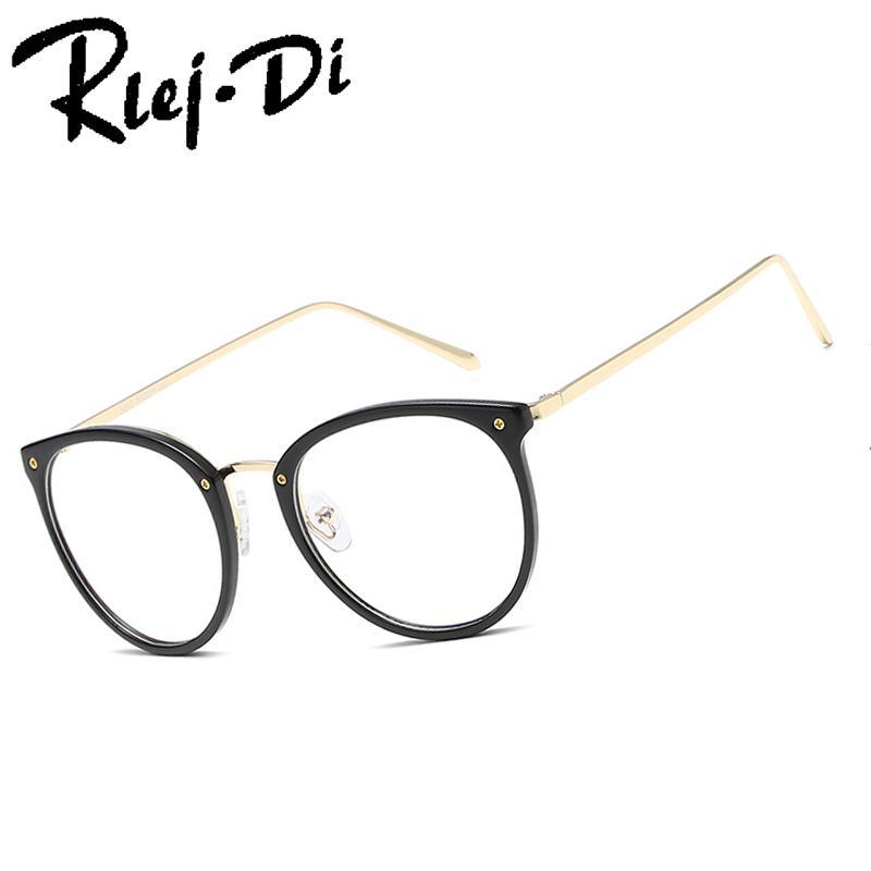 6e9ebbbda FA309 Fashion Women Vintage Round Eyeglasses Frame Men Optical ...