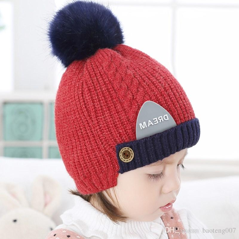 Baby Hat Autumn And Winter 2-5 Years Old Children s Wool Hat Korean ... 290c5e745ff
