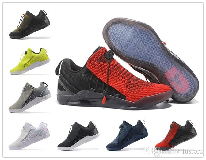 cef4335c7506 Cheap 2019 Newest Sale KOBE A.D. NXT 12 12s Men Basketball Shoes KB XII  Zoom Sport Shoes Yellow Blue White Black Wolf Grey Sneakers