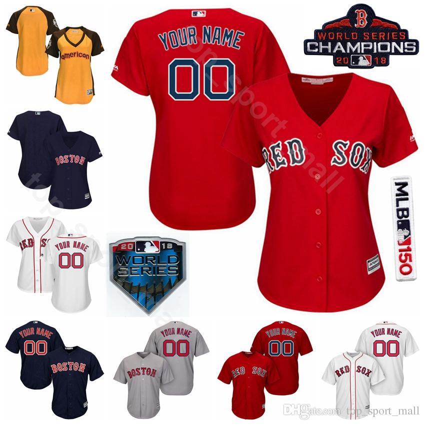 detailing 8a936 dd8e0 Men Kids Women Red Sox Jersey Baseball Andrew Benintendi JD Martinez Jackie  Bradley Jr. Mitch Moreland David Ortiz Carl Yastrzemski