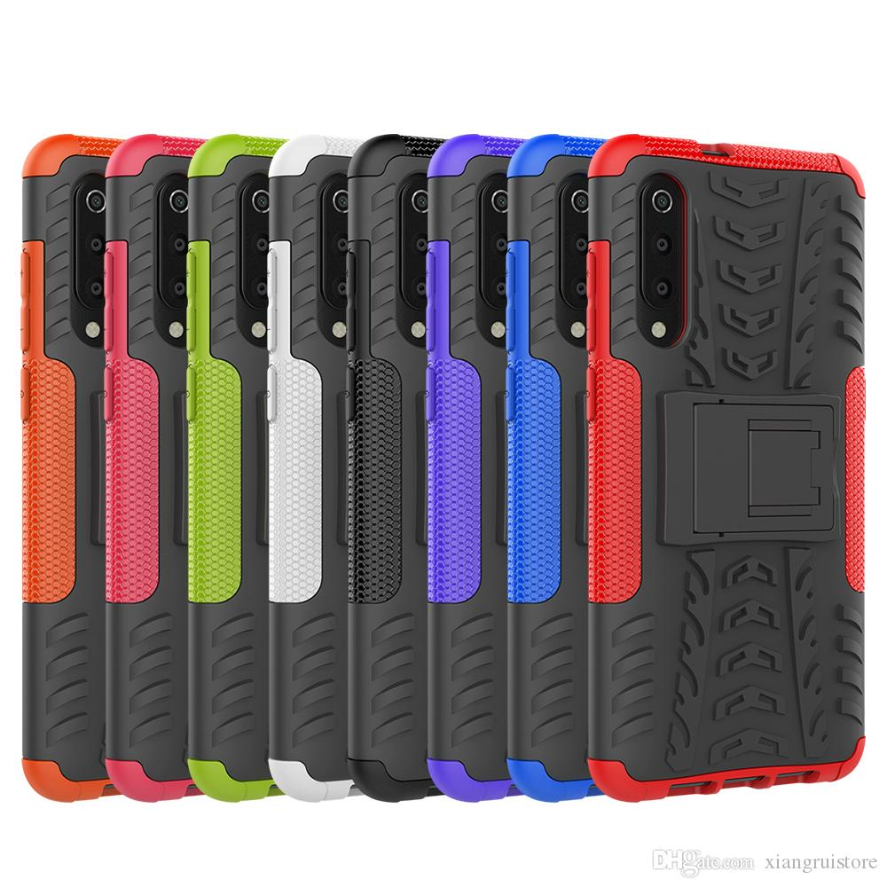 Hybrid Kickstand Rugged Rubber Armor TPU+PC 2 in 1 Back Phone Case For Xiaomi MI 9 For Redmi Note 7