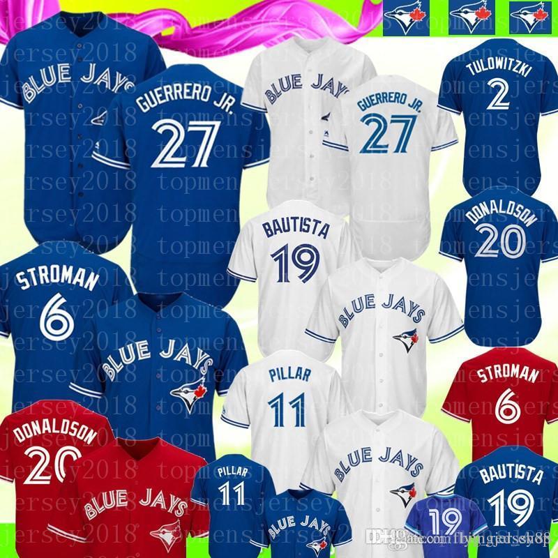 8ae7c1896f5 2019 Blue Jays 27 Vladimir Guerrero Jr. Jersey Toronto Blue Jay 11 ...