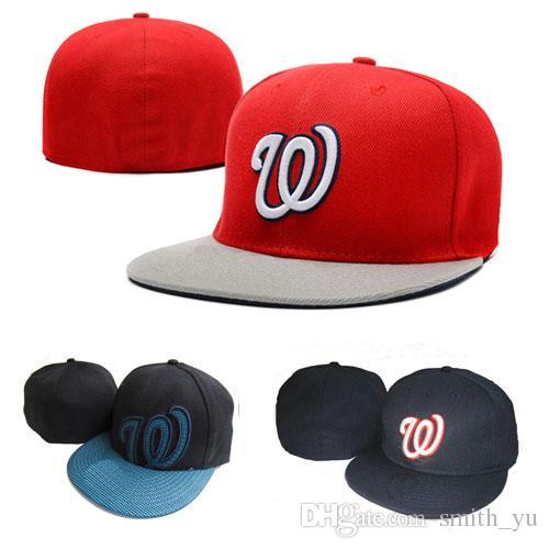 606bfa37465 Fashion Letter W Cap Men Fitted Hats Flat Brim Embroiered Brand Designer  Sports Team Fans Baseball Caps Full Closed Chapeu 47 Brand Hats Vintage  Baseball ...