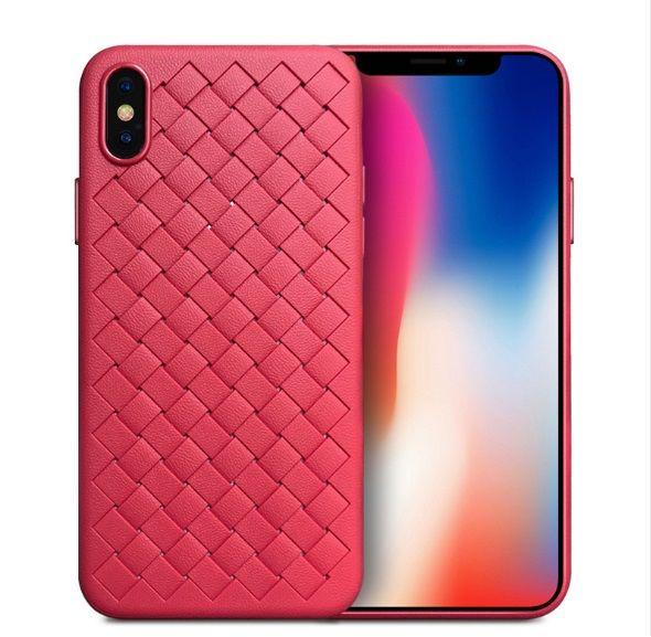 Luxus silikon telefon case grid woven weben fällen für iphone 6 6 s 8 7 plus x xs max abdeckung silikon phone cases