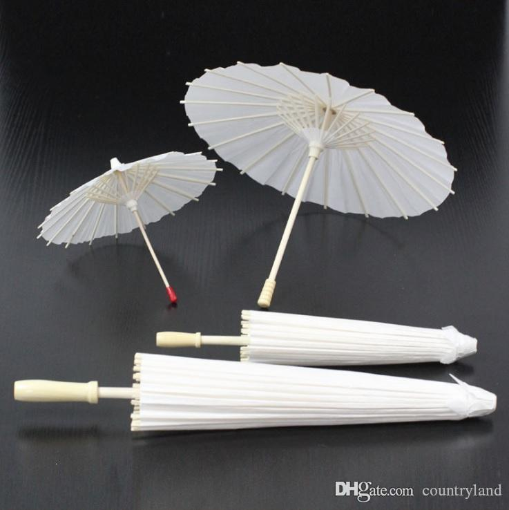 100pcs Children DIY Hand Painted Blank Oilpaper Umbrella White Art Hand Craft Wedding Parasols Umbrellas 20180920#