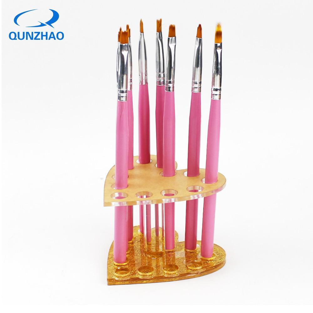 Acheter Dégradé Peinture Acrylique Pinceau à Ongles Gel Uv Fleur