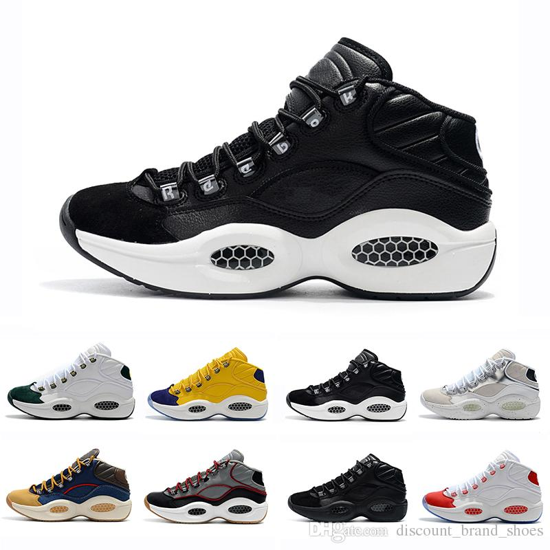 b8ef0428673 With Box Designer Shoes Allen Iverson Question Mid Q1 Basketball Shoes  Answer 1s Zoom Mens Athletic Luxury Elite Sports Sneakers EU40 46 Latest Shoes  Shoes ...